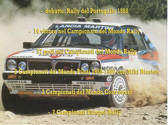 lancia delta 8v integrale martini campione del mondo world rally champion 1988 parlmares
