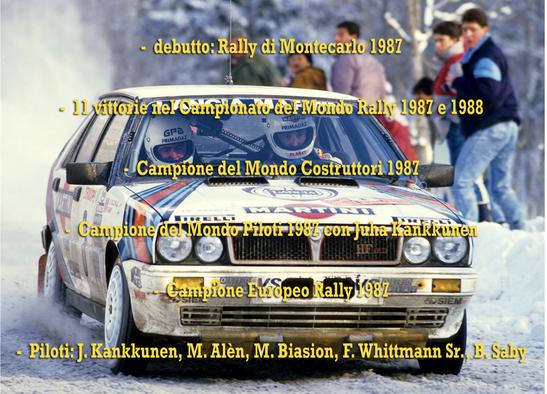 lancia delta 4wd hf Martini rally palmares campione del mondo world rally champion