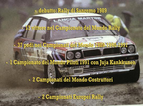 lancia delta 16v integrale 1990 campione del mondo world rally champion palmares