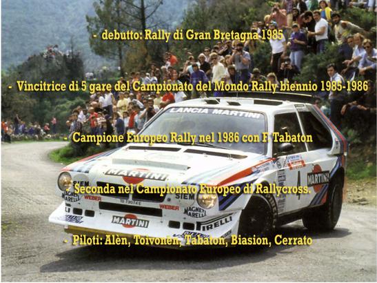 lancia delta s4 martini rally palmares