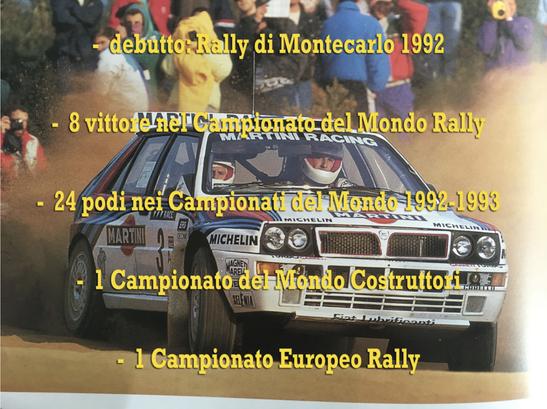 lancia delta evo integrale 1992 campione del mondo world rally champion palmares