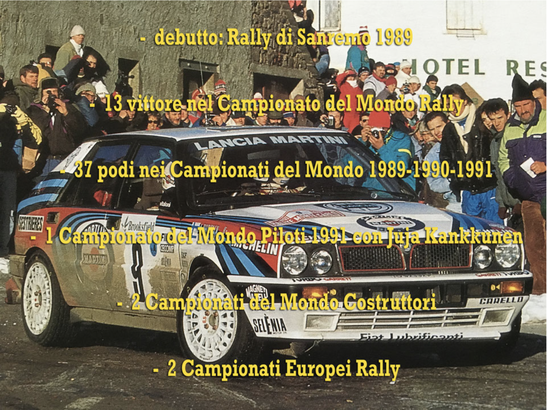 lancia delta 16v integrale 1990 sportline martini campione del mondo world rally champion palmares
