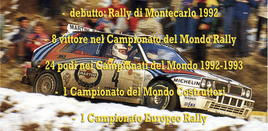 lancia delta evo integrale campione del mondo world rally champion palmares