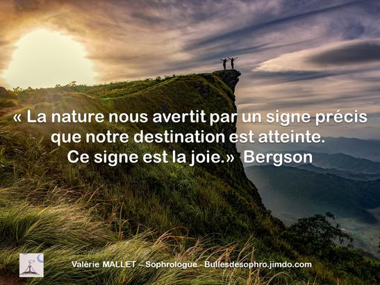 Citation La Joie Valérie Mallet Sophrologue à Domicile