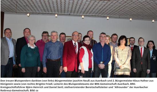 Klaus Hafner CSU Königstein Hirschbach 2. Bürgermeister Königstein Auerbach Blutspende
