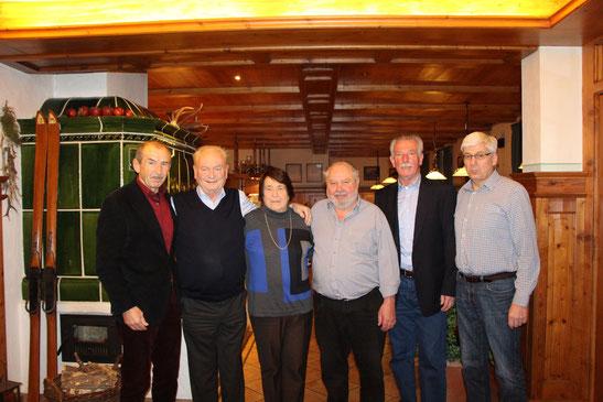 v.l. Franz Keser, Theo Strobl, Helga Leiderer, Hans Mösl, Hans Perzl, Reiner Jakob