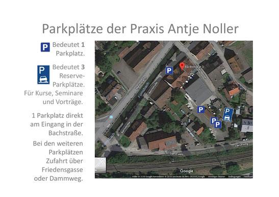 Parken und Parkplätze Anfahrt