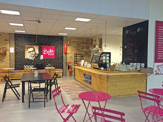 Das Café im Erikshjälpen Second Hand Shop.