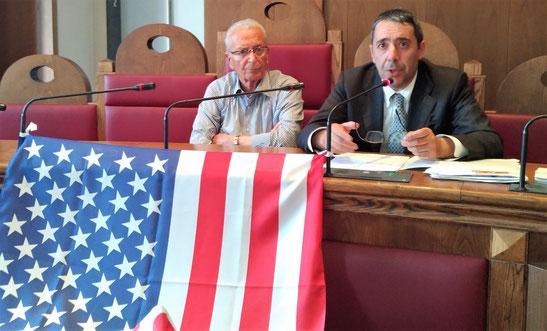 L'assessore Marziale (a dx) insieme al sindaco Quadrini