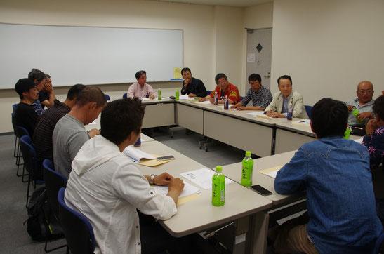ビワマストローリングのガイド方が一同に会して、6月5日のイベントと組合の設立について協議が重ねられた