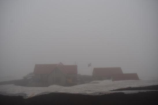Hrafntinnusker, fog Laugavegur trail