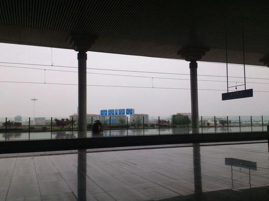 「南京南站」でさえも周りはこんな感じ。南京市のどの辺なん?っていう感じです。