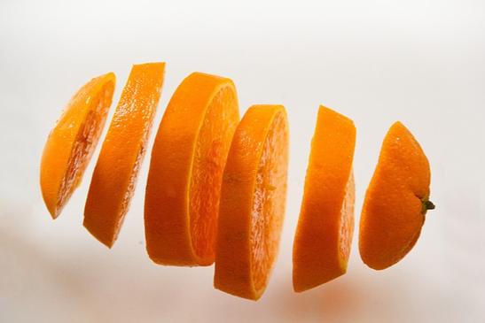 オレンジの輪切り。