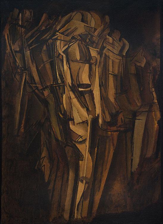 マルセル・デュシャン「ヌード、汽車上の悲しげな青年」(1911-1912年)