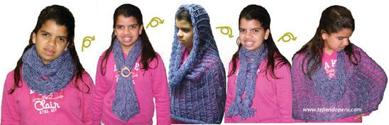 Cómo tejer una bufanda magica tubular (magic scarf) con agujas de tejer circulares