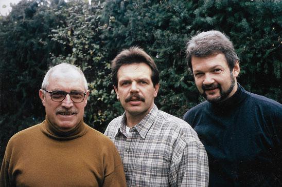 Von links: Dr. Jochen Ziegler Schatzmeister, Alfred Herbert Vorsitzender, Dr. Markus Bruckmer stellv. Vorsitzender