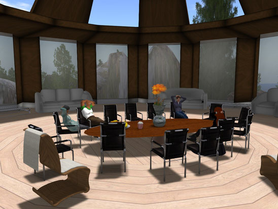 Board Meeting on Avalon Island in Second Life