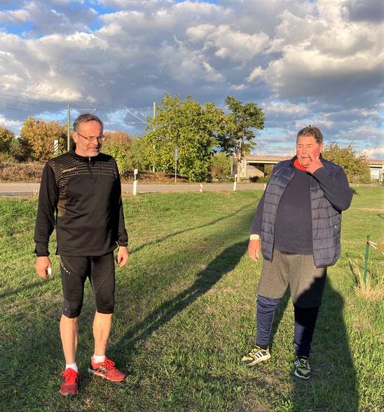 Dr. Klaus Lutter (links) und Norbert Gundermann waren erneut eine Klasse für sich! Sie lieferten sich sehr                                spannende Duelle!