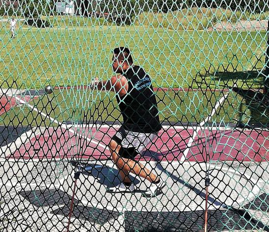 Steffen Klein war nach einer längeren Erkrankung wieder im Einsatz - und dies mit guten Steinstoß- und Gewichtwurfergebnissen!