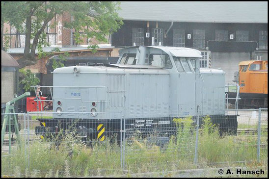 345 384-2 (SGL V60.12) steht am 29. Juli 2016 am Bf. Gera
