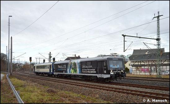 626 420 gehört der Firma Thales und wurde zum ETCS-Messtriebwagen umgebaut. Am 22. Dezember 2020 rückt er, erstmals gemeinsam mit 926 202 (ex SWEG) aus dem SEM nach Schlettau aus. Am Bf. Niederwiesa wurde das Gespann gesichtet