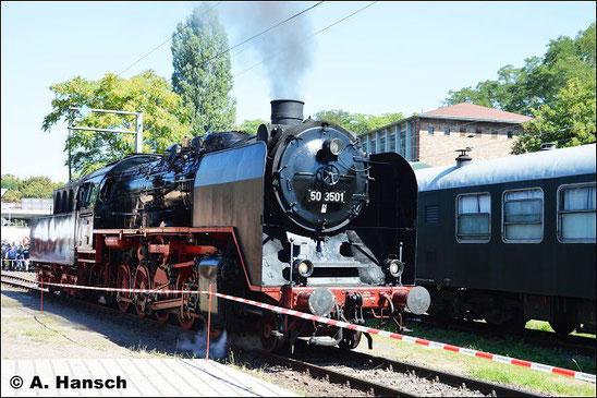 Am 27. August 2016 konnte ich die Lok zum Eisenbahnfest im Bw Halle P auf Chip brennen