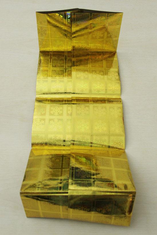 Komplett gefalteter Umschlag