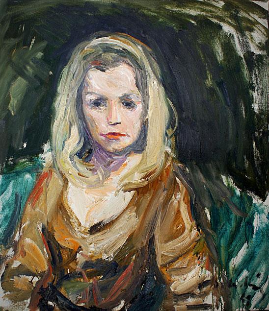 Ingrid van Bergen, Schauspielerin   1969, Öl auf LW, 65 cm x 75 cm