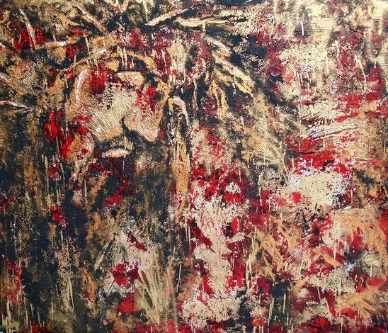 Jesu Blut- Öl / Acryl auf Leinwand - 100 x 120