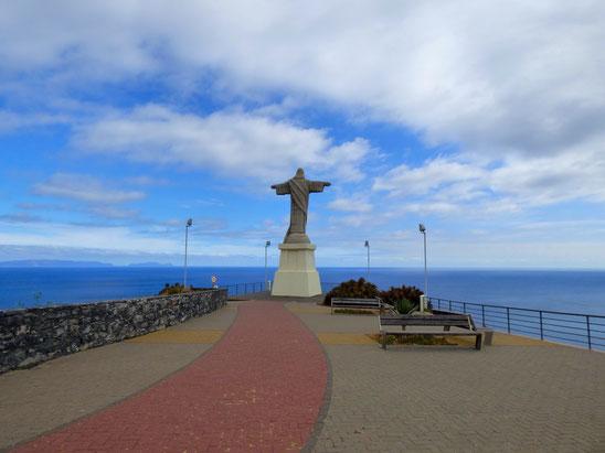 Madeira - Christusstatue in Garajau