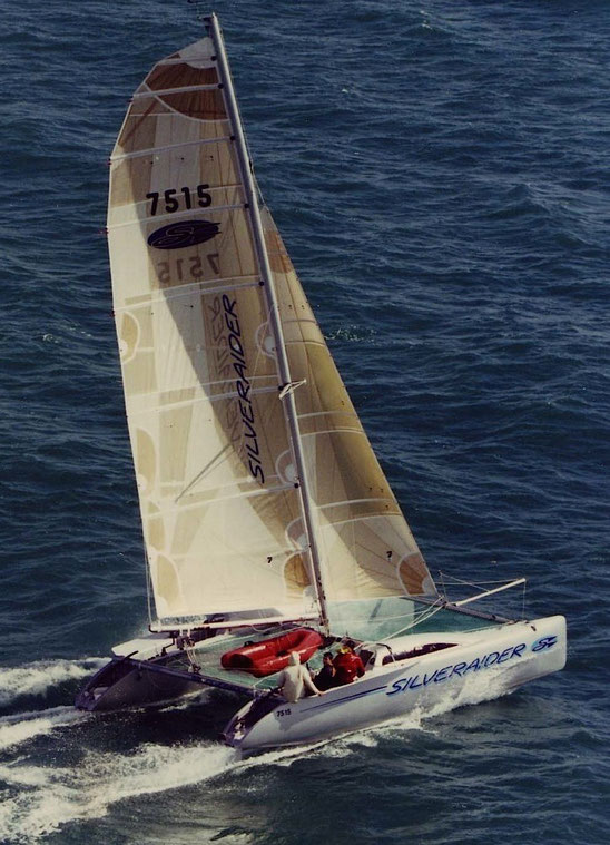 Catamaran SilverRaider racing the Coastal Classic in New Zealand