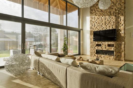 Huis Donker Hout : Een wand bekleden met hout wonen co stedsk interieuradvies