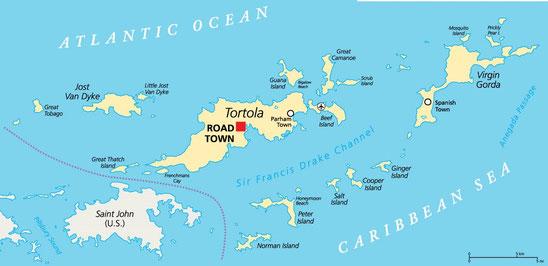Flottielje zeilen vanuit Tortola op de British Virgin Islands