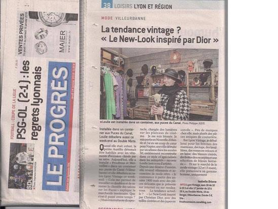 Le progrès - Lyon Vintage 2016