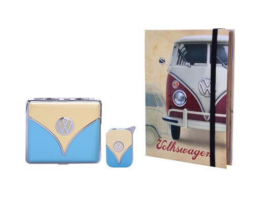 VW Geschenkset, Feuerzeug & Zigarettenetui