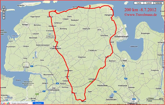 Tagestour am 8.7.2012-200 km