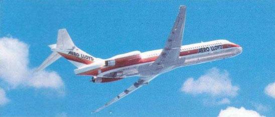 Eine der vier 137-sitzigen Aero Lloyd MD-87/Courtesy: Aero Lloyd