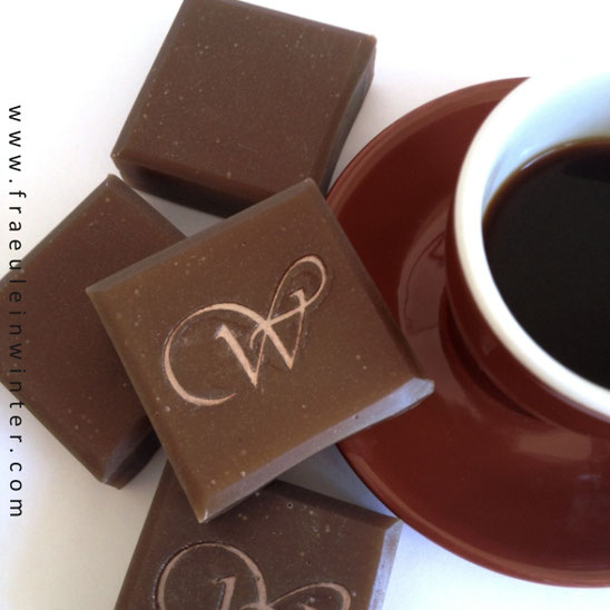 Coffee soap. Handmade by Fraeulein Winter