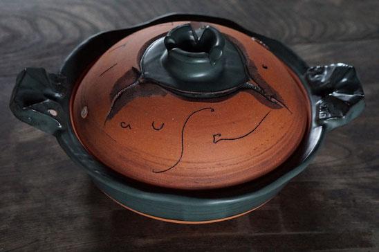 陶芸家 ブログ 土鍋作品 耐熱 直火 空焚き デザインが素敵 大きい土鍋