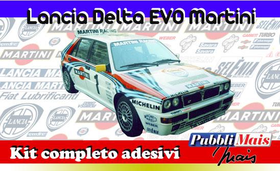 price cost kit complete stickers decals sponsor lancia delta evolution 1992 martini online shop pubblimais