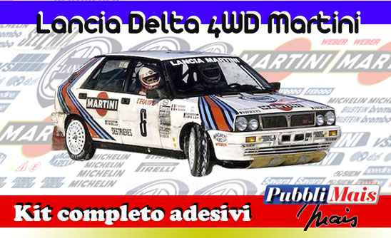 price cost kit complete stickers decals sponsor lancia delta 4wd martini online shop pubblimais rally