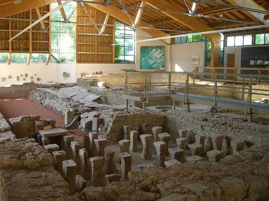 Blick in das Römerhaus Walheim