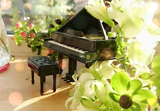 ゆうこサロン ピアノ写真