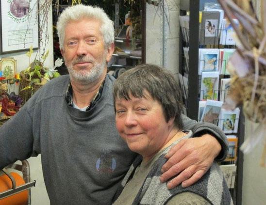 Gudrun mit ihrem Bruder Bernd Balewski