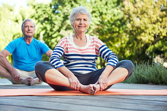 Hatha-Yoga für Menschen über 70