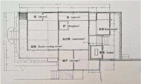 小斎 平面図