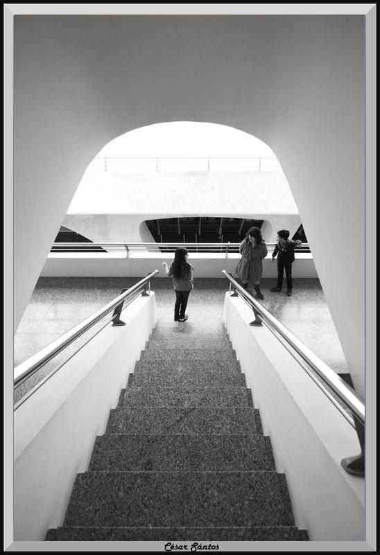 Escaleras modernas. Museo de las Artes y las Ciencias. Valencia