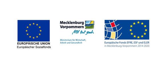 Gefördert durch die Europäische Union aus Mitteln des Europäischen Sozialfonds und unterstützt durch den Regionalbeirat Westmecklenburg.