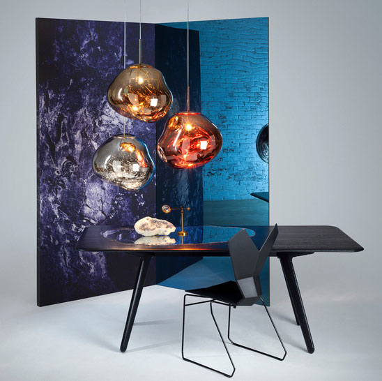 Luminaires Tom Dixon en collaboration avec le collectif Front, exposition The cinema à Milan le 15 et 19 avril 2015