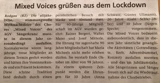 aus der Rodgau-Zeitung vom 25.12.2020